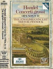 Handel English Concert Pinnock Concerti Grossi Op 6  9-12 CASSETTE ALBUM Archiv