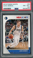 Luka Doncic Dallas Mavericks 2019 Panini Hoops Basketball Card #39 PSA 8.5
