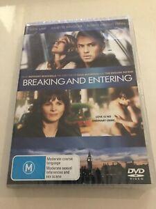 New & Sealed Breaking And Entering DVD Jude Law Juliette Binoche Martin Freeman