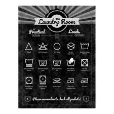 Retro Metal Tin Signs The Laundry Room Iron Door Plate Wall Poster