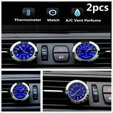 Car A/C Vent Clip Clock Thermometer Gauge Trim Perfume Refill Storage Fragrance
