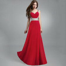 Ladies Long Chiffon Cocktail Evening Formal Party Dress Bridesmaid Prom Gown Hot