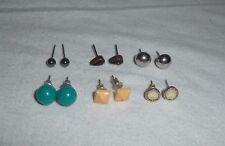 Costume Jewellery Stud Earrings Lovely Job Lot Selection Of
