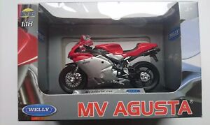 WELLY MV AGUSTA F4S 1:18 DIE CAST MODEL NEW IN BOX LICENSED MOTORCYCLE