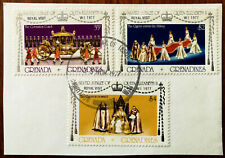 Grenada & Grenadines Royal Visit W. I. 1977 $4, $2 & 35c Stamps