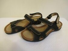 Womens Size 39 Ecco Adore Nubuck Black Leather Strap Sandals 47913