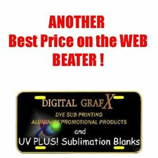 100ea UV PLUS! 3 Coat Gloss White Aluminum Sublimation Auto License Plate Blanks