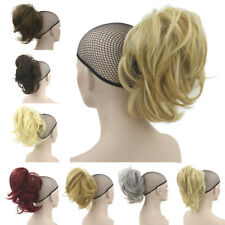 """13"""" Synthetic Claw Clip on Ponytail Hair Extensions 35cm Short Thick Hair Pieces"""