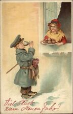 Foreign New Year - Girl in Window Offers Food & Drink to Soldiers Boy PC