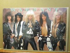 vintage Warrant poster original rock  and roll 1989 dirty rotten filty rich 8605