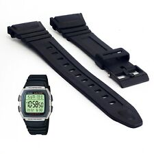 Black Replacement Watch Strap Band For Casio W96H W96 W-96H 577EA1 UK Stock