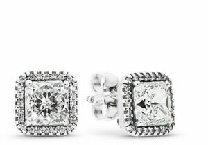 💎PANDORA Timeless Elegance Stud Earrings Crystals & Clear CZ 2019 s925