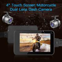 4.0 Inch Touch FHD Doppel Linse 1080P 720P Motorrad GPS Dashcam DVR Camcorder