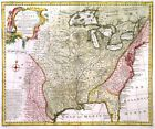 EASTERN UNITED STATES. Genuine antique map by Emanuel Bowen ca. 1747