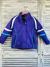 Crane Snow Extreme Jacket Kids 4 Purple Full Zip Insulated Stand Up Neck Sports