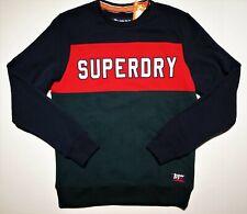 Superdry men's sweatshirt color block size xl navy red green