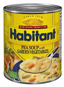 HABITANT PEA SOUP WITH GARDEN VEGETABLES 796ml-28oz 1 LARGE CAN