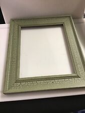 New Vintage Rustic Door Photo Picture Frame Distressed Weathered Wood Green Art