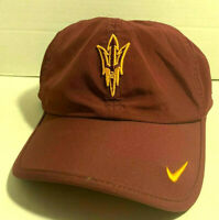 NEW! NIKE Adult Unisex ASU Sun Devils NCAA Featherlight Cap-Maroon/Gold