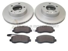 VAUXHALL MOVANO 2.3 CDTi 2010-2016 FRONT 2 BRAKE DISCS AND PADS SET NEW