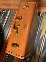 """Vintage SAMSONITE Shwayder Bros 40's - 50's Brown Leather 21"""" Suitcase Luggage"""