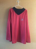 Star Trek Movie Deluxe Red Uniform Shirt Costume Adult Size XL Cosplay Halloween