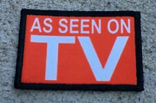 AS SEEN ON TV Morale Patch Tactical Military Army Flag USA Badge Hook and Loop