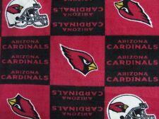 2-NFL ARIZONA CARDINALS PRINTED FLEECE KING PILLOW CASES-BLACK FLEECE BACK