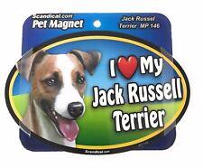 I LOVE MY JACK RUSSEL TERRIER Magnet Gifts, Cars, Trucks. Lockers, Refrigerators