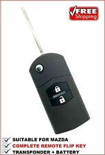 MAZDA 2 3 6 RX8 Remote FLIP KEY Ready for programming Transponder Car key type 2