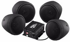 BOSS AUDIO 1000W 4-SPEAKER BLUETOOTH SOUND SYSTEM BLACK YAMAHA CAM-AM ALL UTV