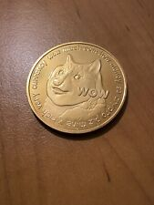 Dogecoin Gold Plated Commemorative Coin. Free Royal Mail 1st Class Post UK