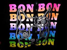 REBECCA BON BON hooded sweatshirt youth lrg kids hoodie rainbow dog mascot logo