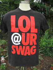 LOL @ UR SWAG Black T-Shirt Large 100% Cotton