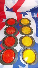 Military Trailer Red and Yellow Reflector 8 Pc Set M105 M101 MS35387-2 MS35387-1