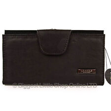 New Black Ladies Large Leather Purse/Wallet TOP QUALITY