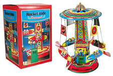 Tin Toys Rocket Ride Carousel RR wind up Schylling 205271