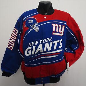 NEW YORK GIANTS LARGE JACKET MEN SENTINEL NFL FOOTBALL COTTON TWILL DANIEL JONES