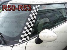A-Säulen Checkered Flagg Aufkleber Pillar Decal f. BMW MINI COOPER R50 One Works
