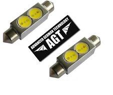 2x RED 36mm LED Festoon Interior Dome Light Bulb Lamp 6418 DE3423 6411 6413 3425