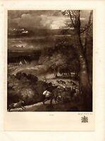 1929 Estampado ~ Tiziano Vecellio 1576 ~ Tormenta Apaisado ~ KING'S Colección
