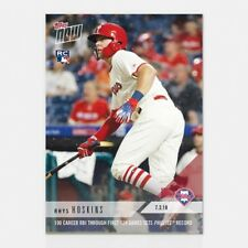 2018 TOPPS NOW #408 RHYS HOSKINS 100 CAREER RBI IN IST 124 GAMES PHILLIES RECORD