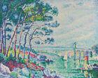 Paul Signac Landscape with Bridge Fine Art Print CANVAS Giclee Reproduction 8x10