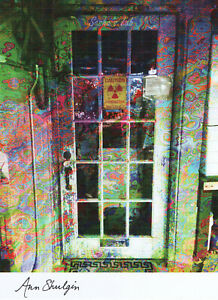 SASHA LAB DOOR BLOTTER ART BY MONKEY SIGNED BY ANN SHULGIN WITH PHOTO PIKHAL