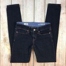 GAP 1969 Women's Always Skinny Jeans Dark Indigo Wash Stretch Denim Size 25 0