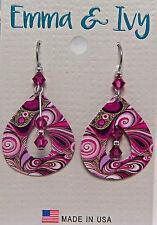 Mfg Usa Eie 434 Whimsical Fashion New Emma & Ivy Art Hoop Earrings Wheeler