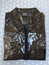 Wet Look Jacket Pvc  Shiny Nylon Glanz Clear Pride XS Large  Glossy ASOS 38
