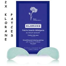 2X KLORANE EYE CONTOUR 7X2 SMOOTHING & RELAXING PATCHES WITH SOOTHING CORNFLOWER