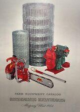 Montgomery Ward 1954 Farm Catalog FULL COLOR Midland Lawn Garden Tractor 184pg