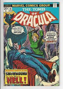 TOMB OF DRACULA #19, 1974, Marvel Comics, NM- CONDITION COPY, BLADE!